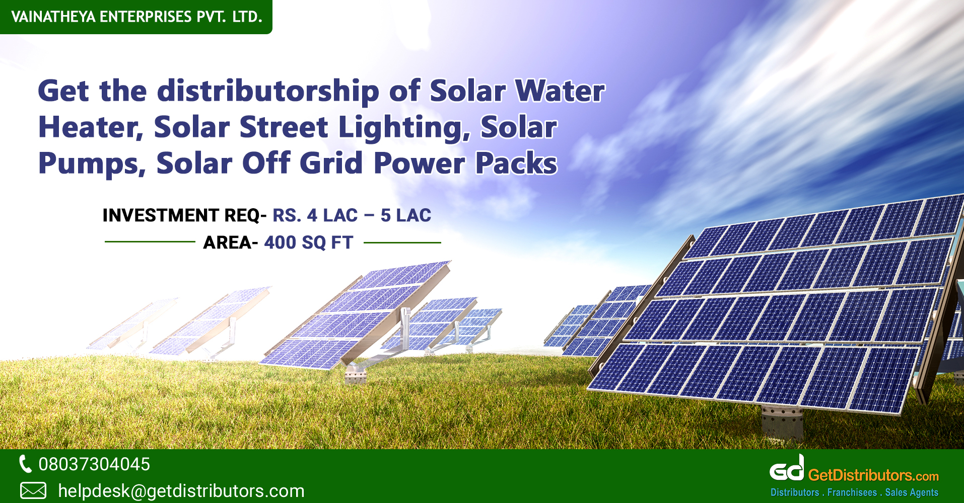 Top Grade Solar Products And Equipment For Distribution