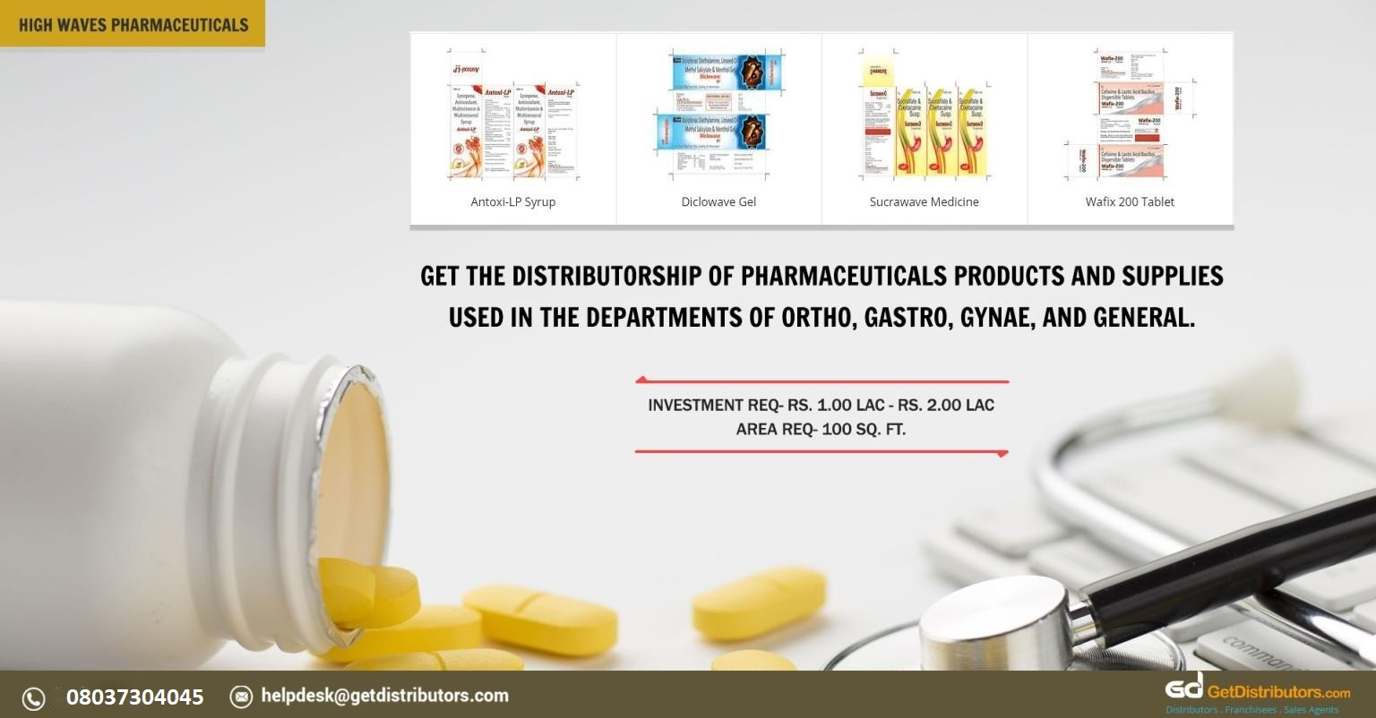 Distributorship Of Effective Pharmaceutical Products And Supplies