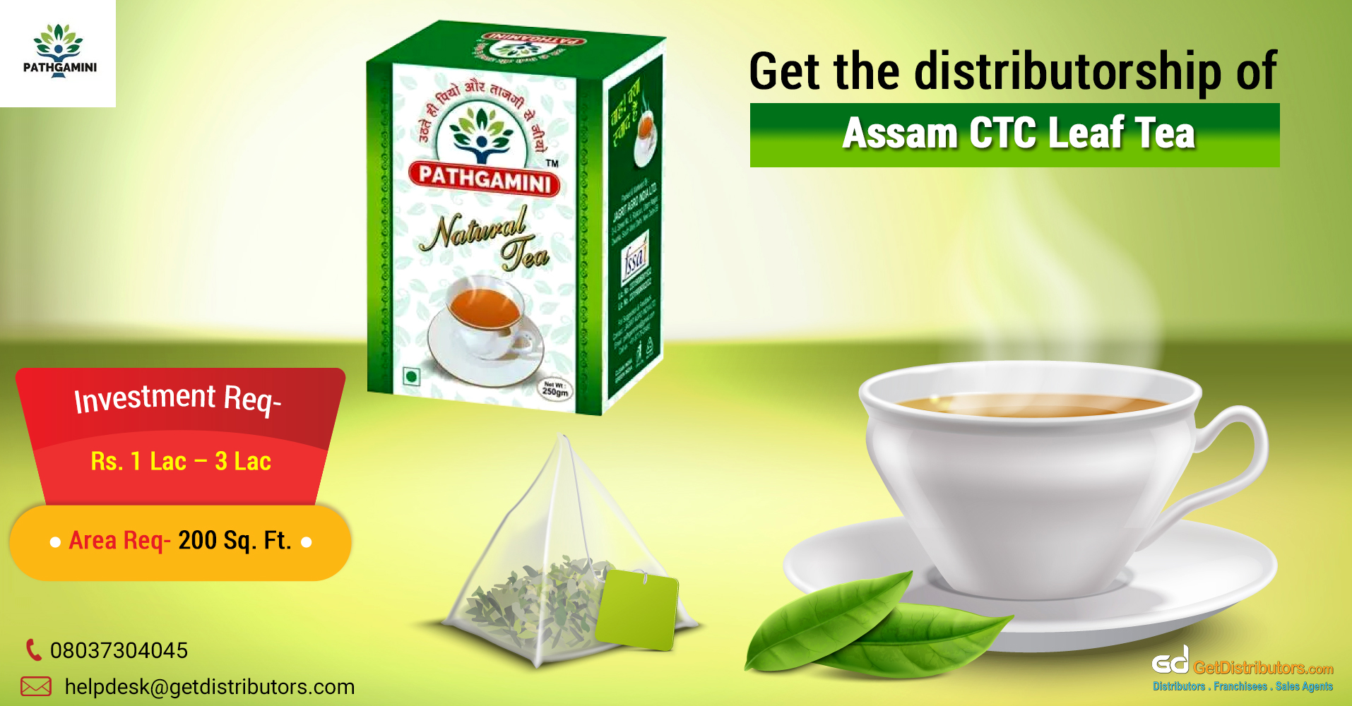One of the finest varieties of tea for distribution
