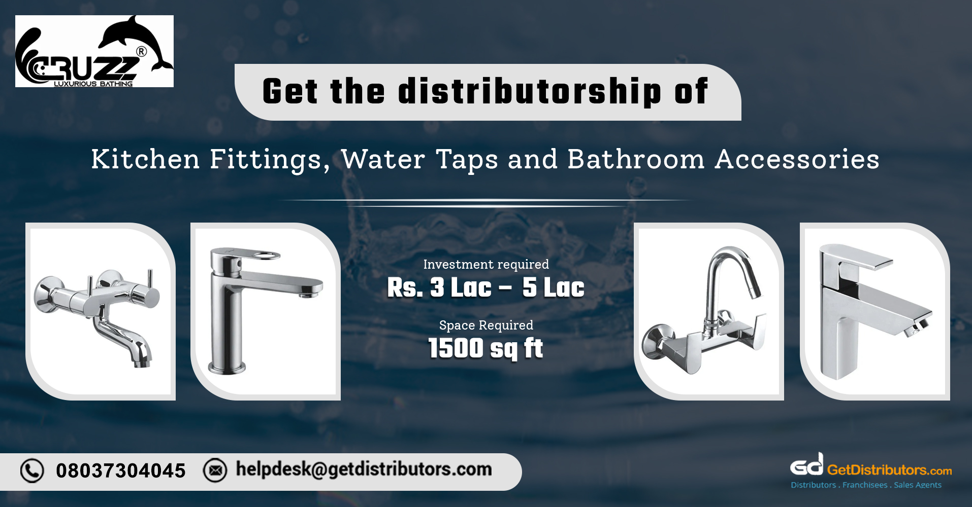 High-quality bathroom, kitchen fittings & accessories for distribution