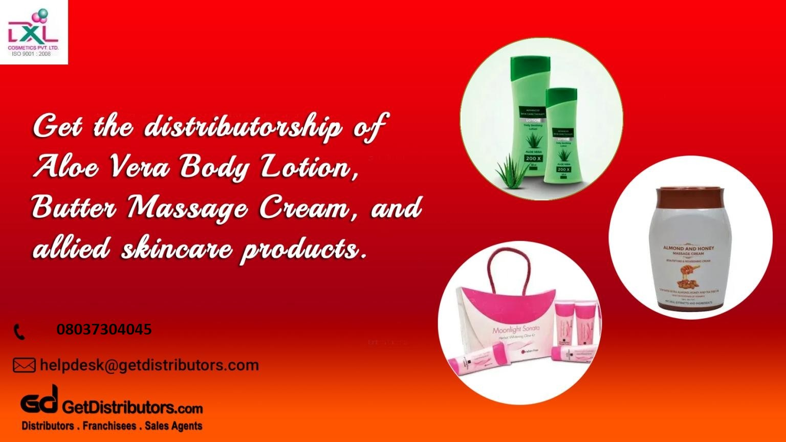 Extensive range of herbal skincare products distribution