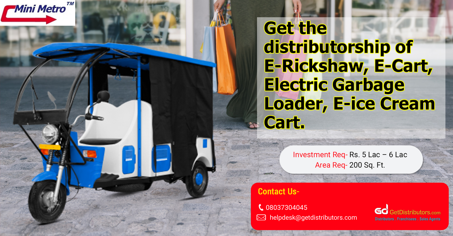 A extensive assortment of electric automobiles for distribution