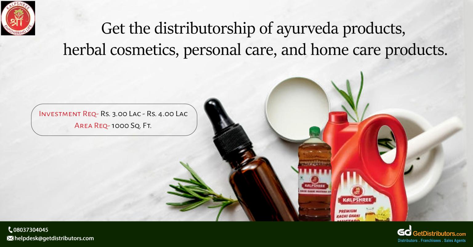 Wide range of ayurveda products, herbal cosmetics, personal care, and home care products for distribution