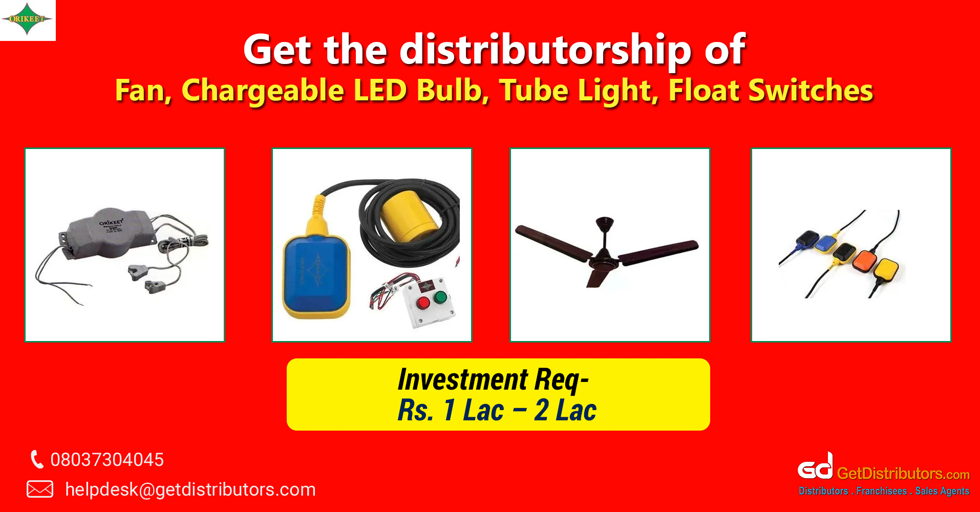 Extensive array of electronic items and supplies for distribution
