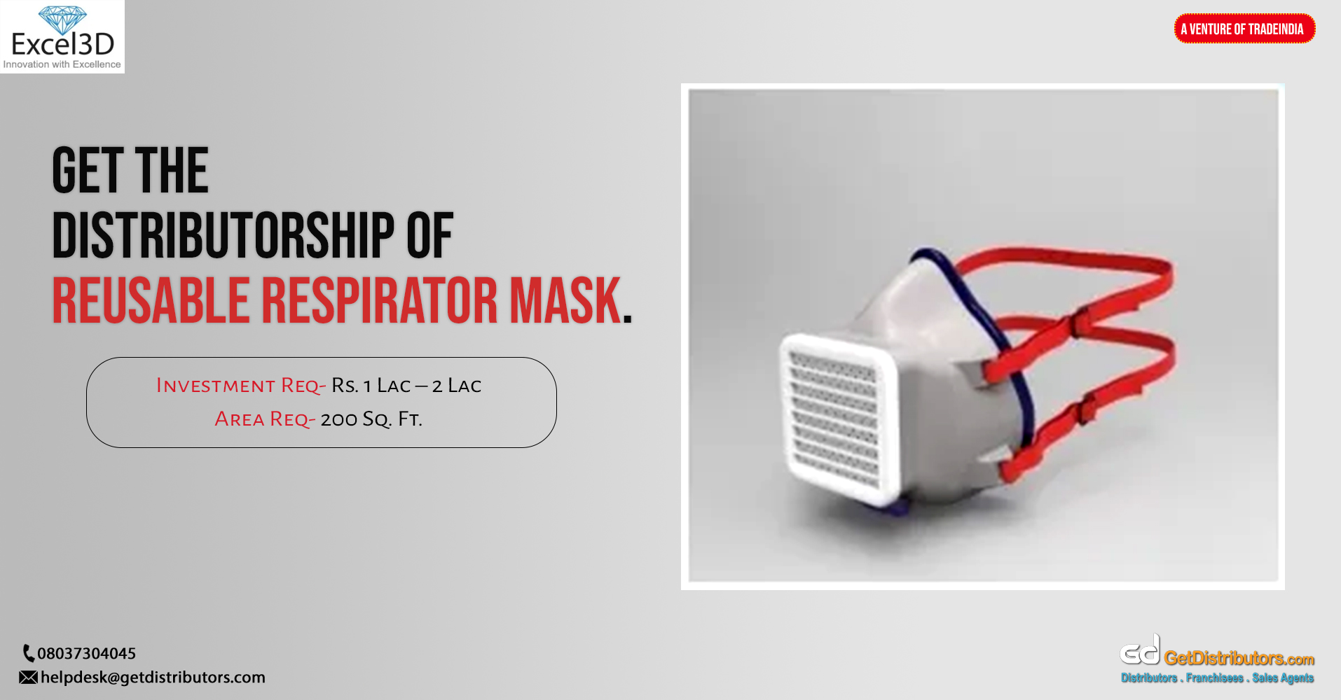 Top grade reusable respirator mask for distribution