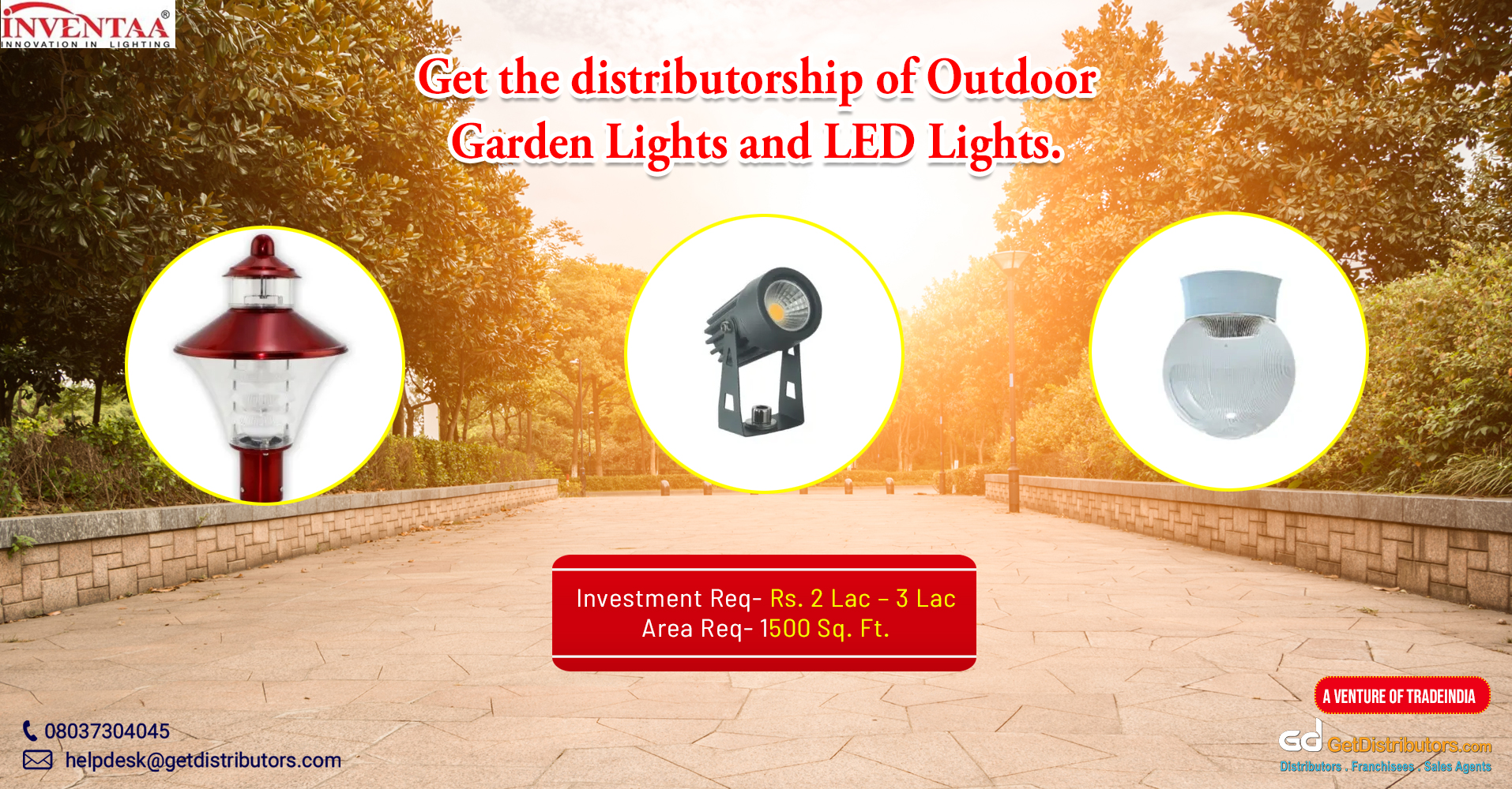 A wide range of outdoor lighting, residential lighting, and allied products for distribution