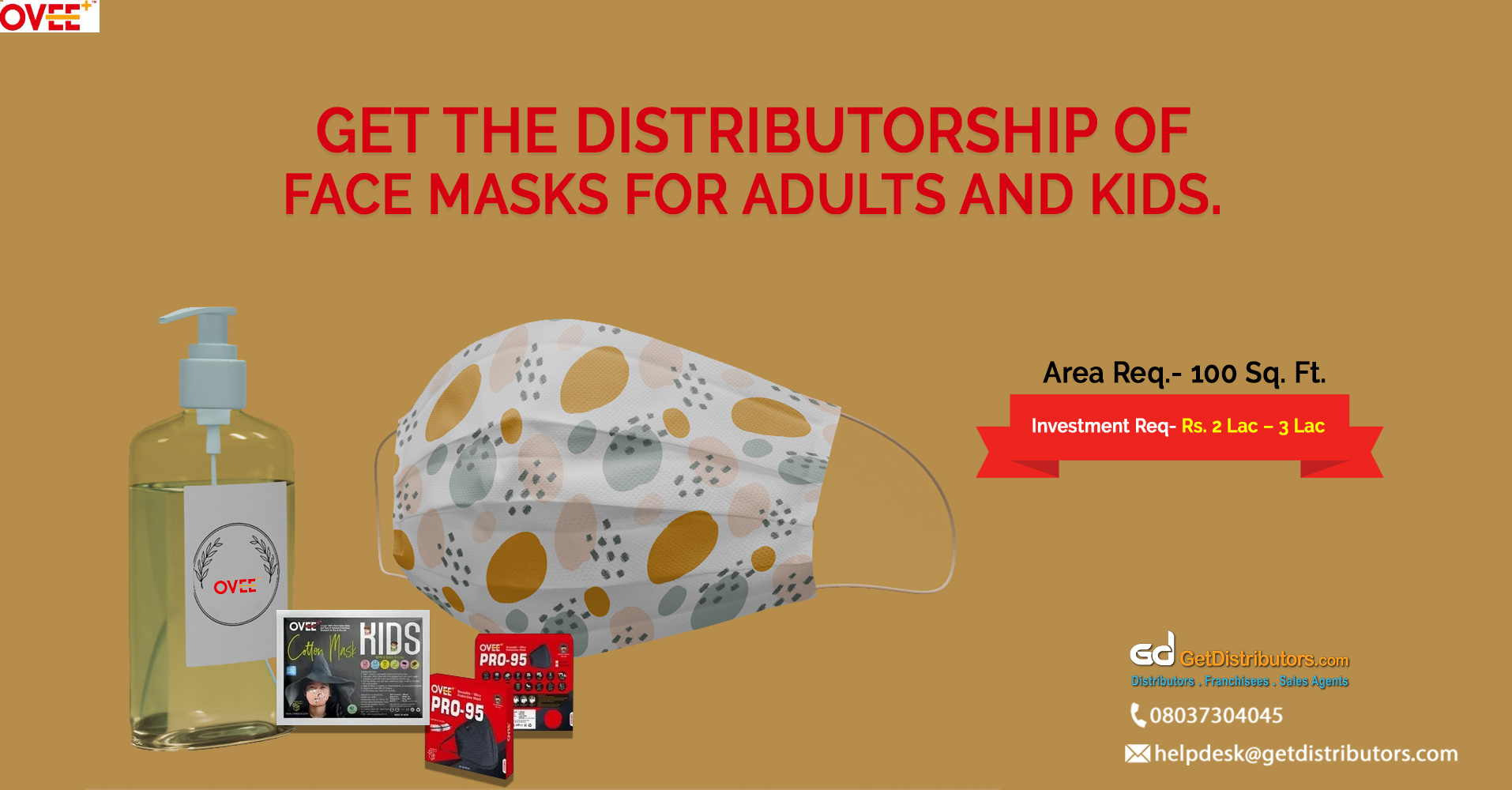 Face masks and other products for distribution