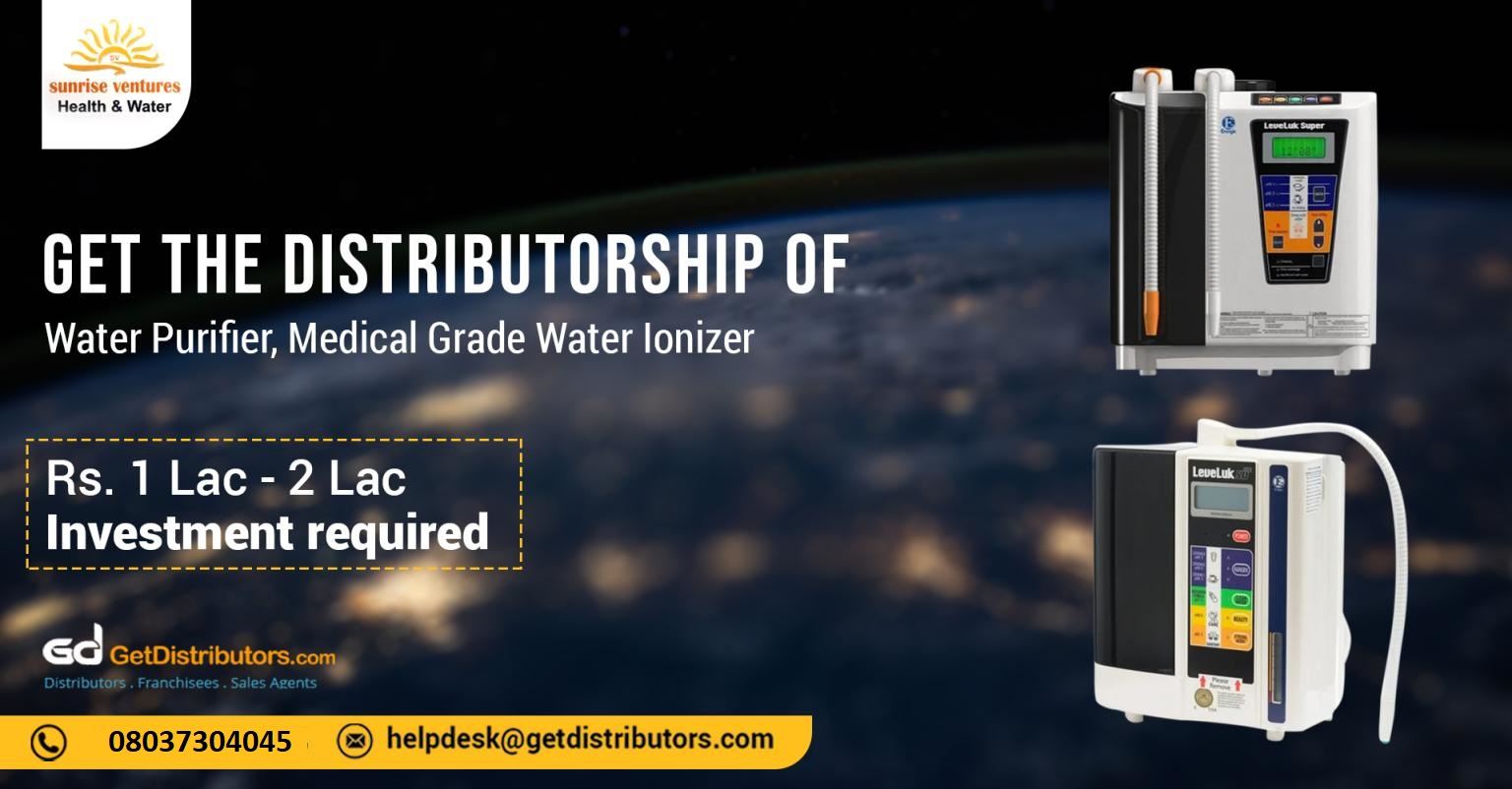 Premium Water Purifier, and Medical Grade Water Ionizer for distribution