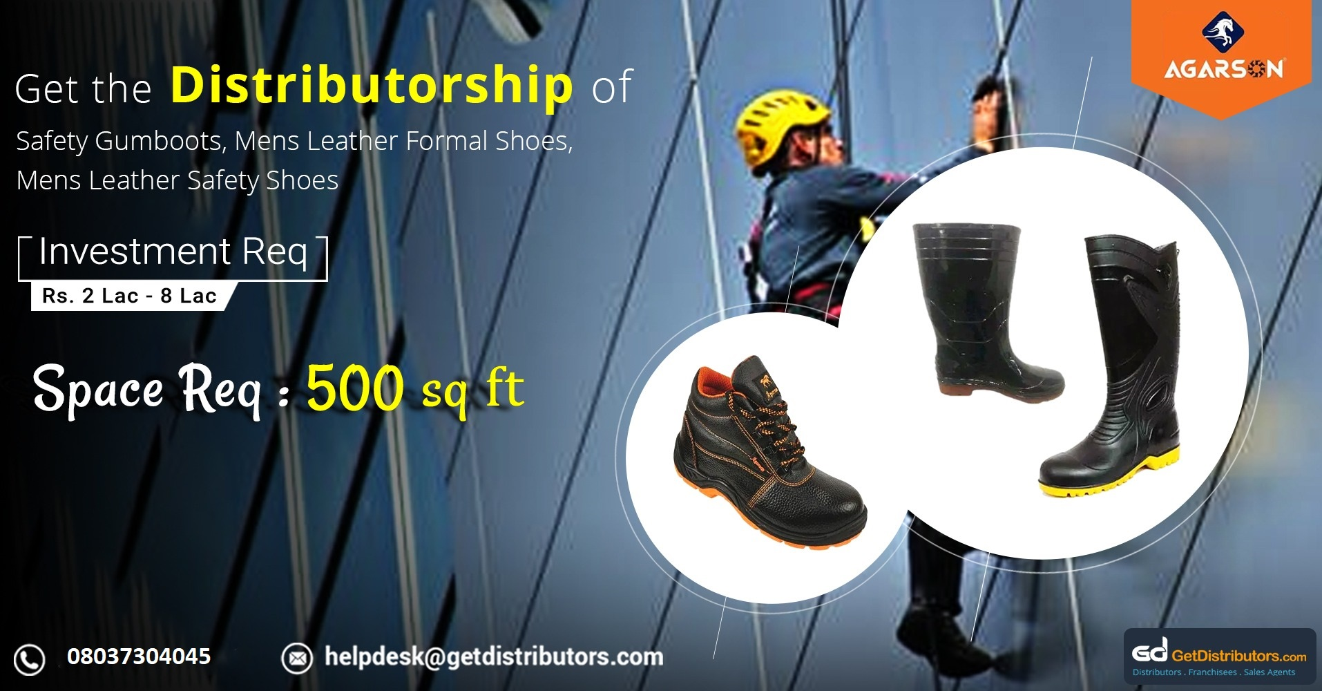 Distributorship of a wide range of sturdy industrial safety shoes