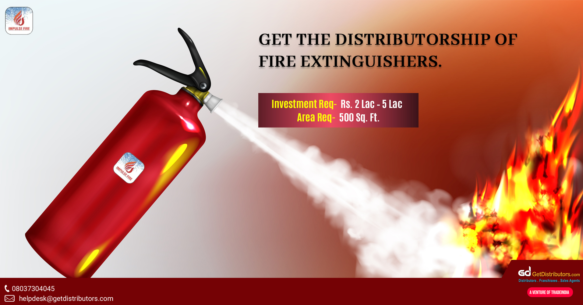 Fire extinguishers and other items for distribution