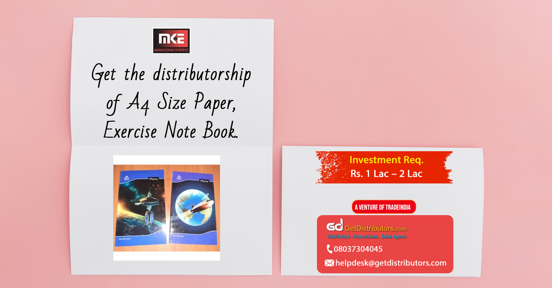 A wide range of notebooks for distribution