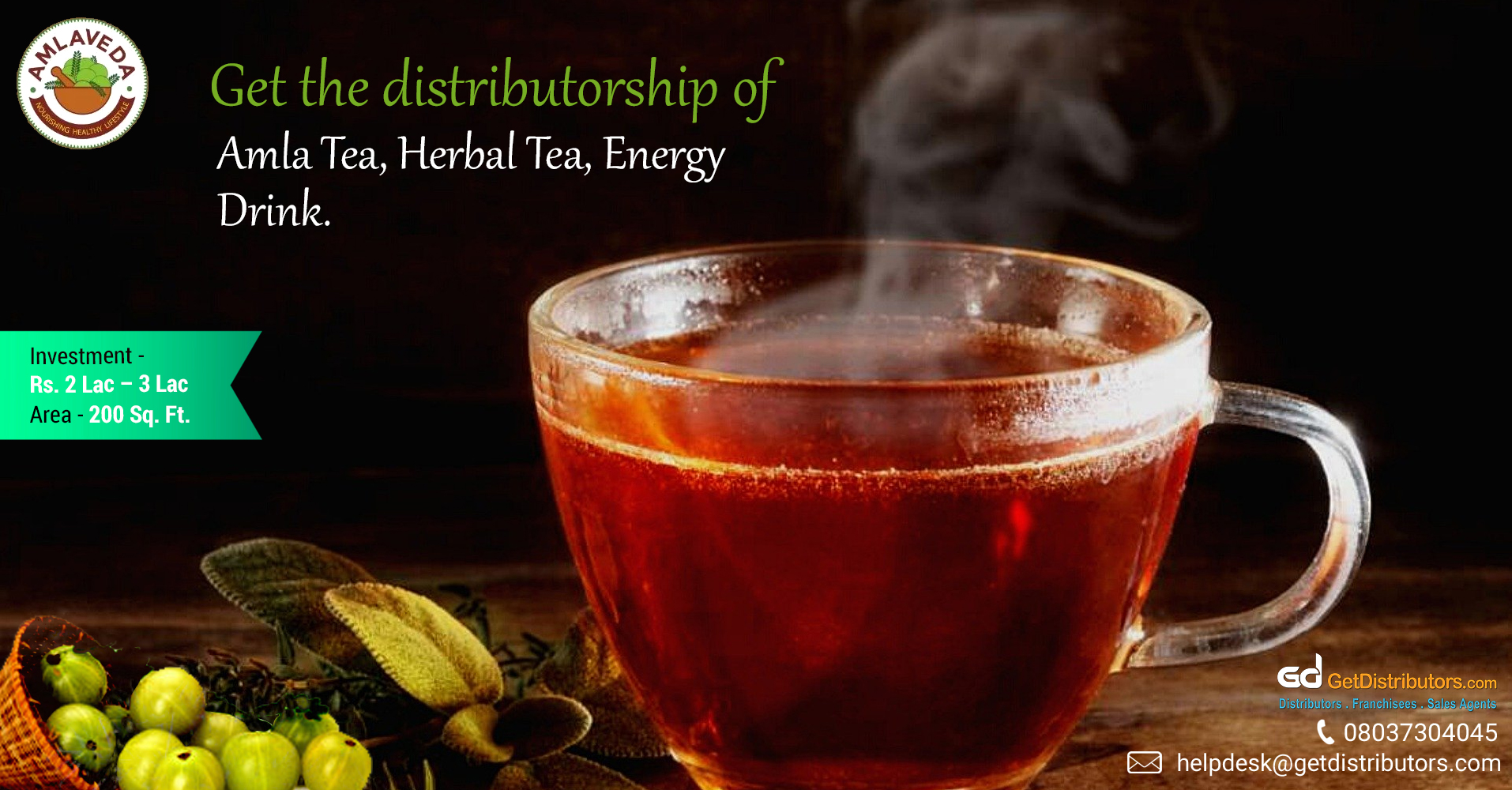 Amla tea, amla juice, and allied products at pocket-friendly rates