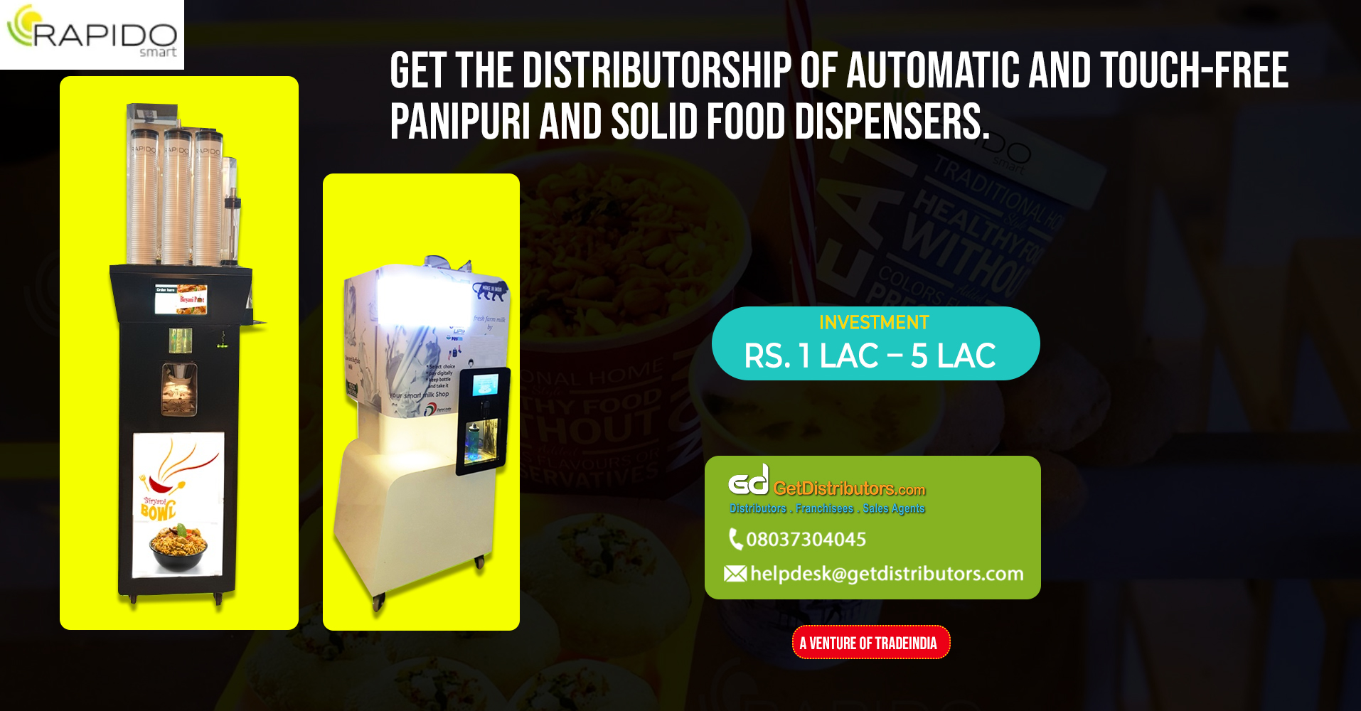 Distribution of highly efficient automatic food dispenser