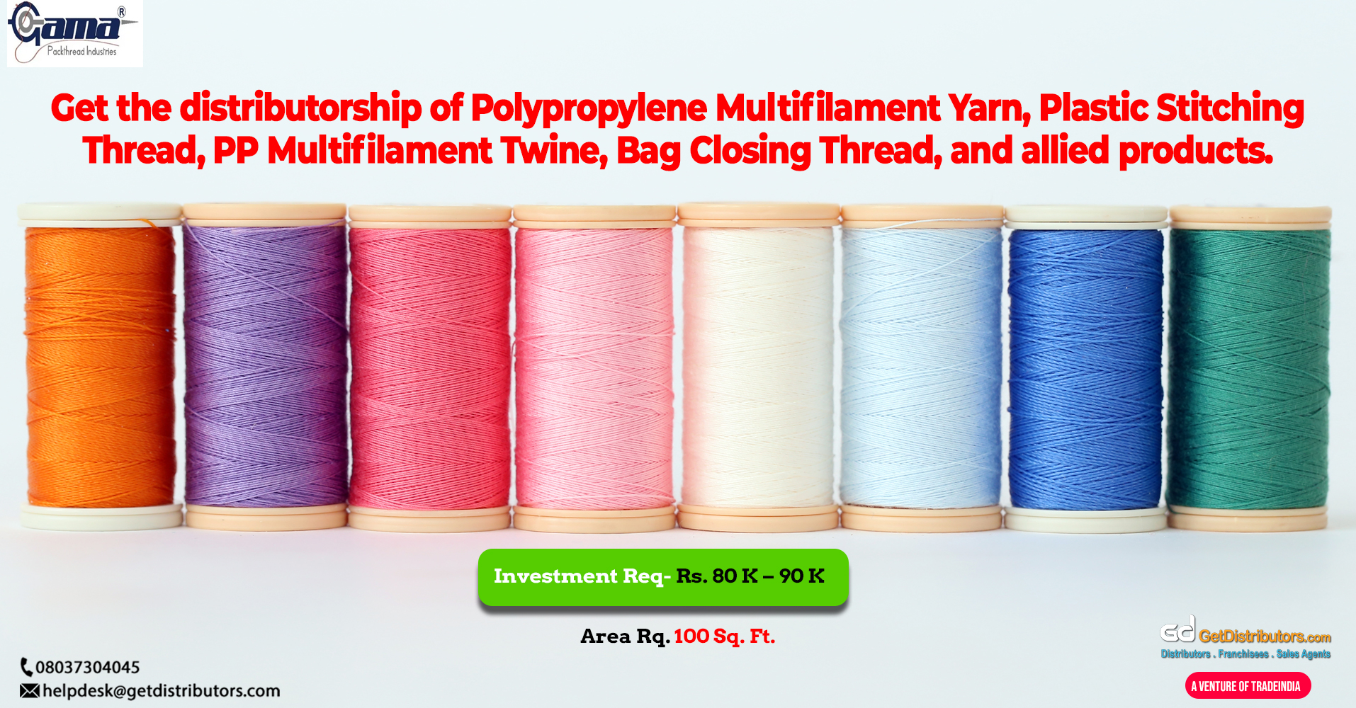 Superior quality Polypropylene Multifilament Yarn, Plastic Stitching Thread, and allied products for distribution