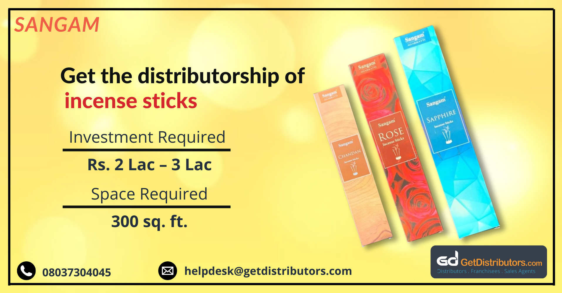 Finest quality incense sticks for distribution