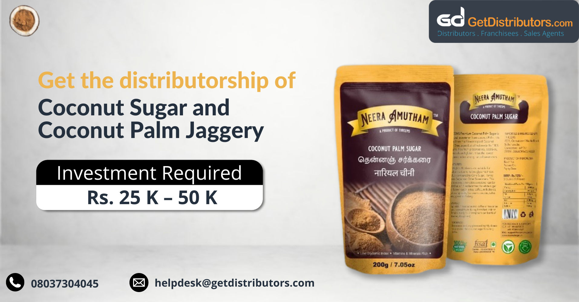 Top-class Coconut Sugar, and Coconut Palm Jaggery for distribution