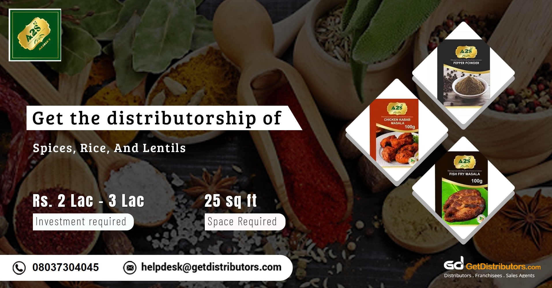 Presenting high-quality spices, rice, and lentils for distribution