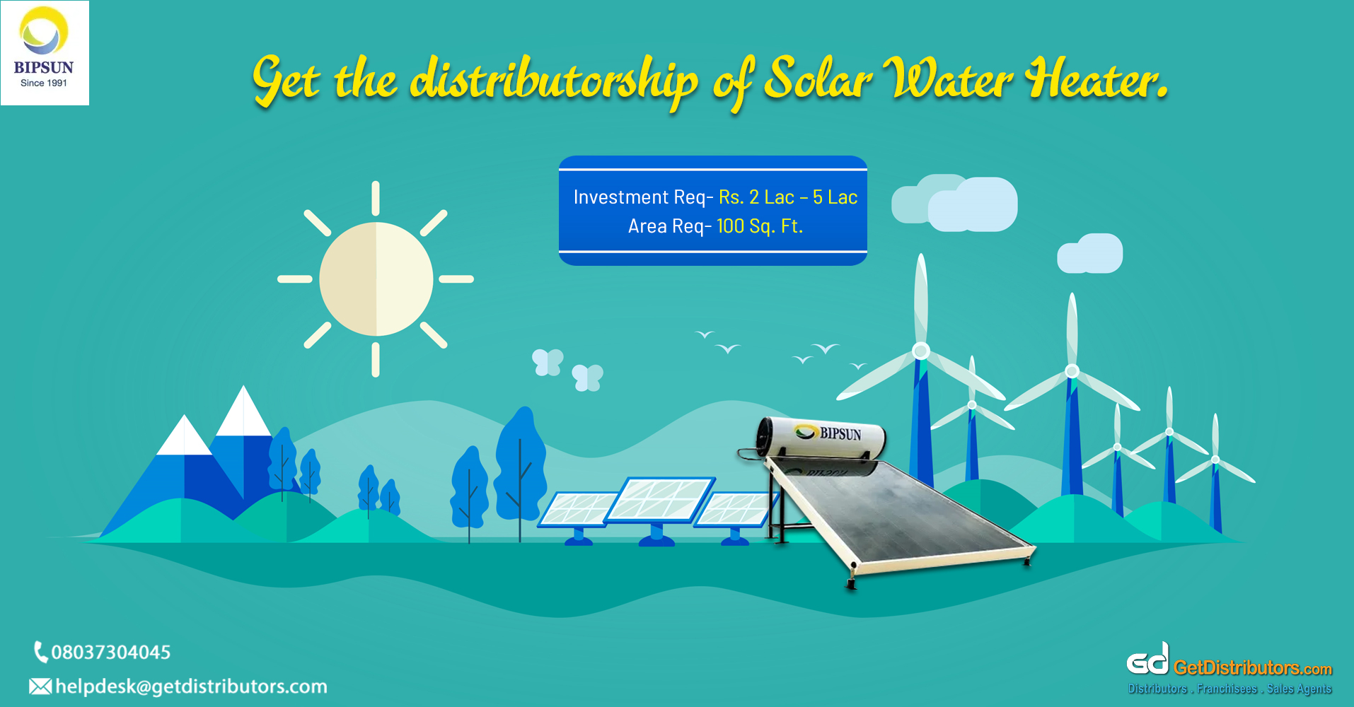 Wide range of solar water heaters and renewable products