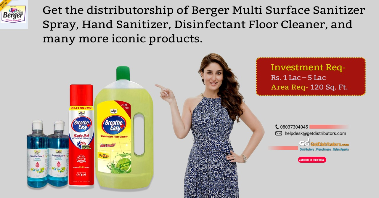 Berger Paints India Limited Sanitizers