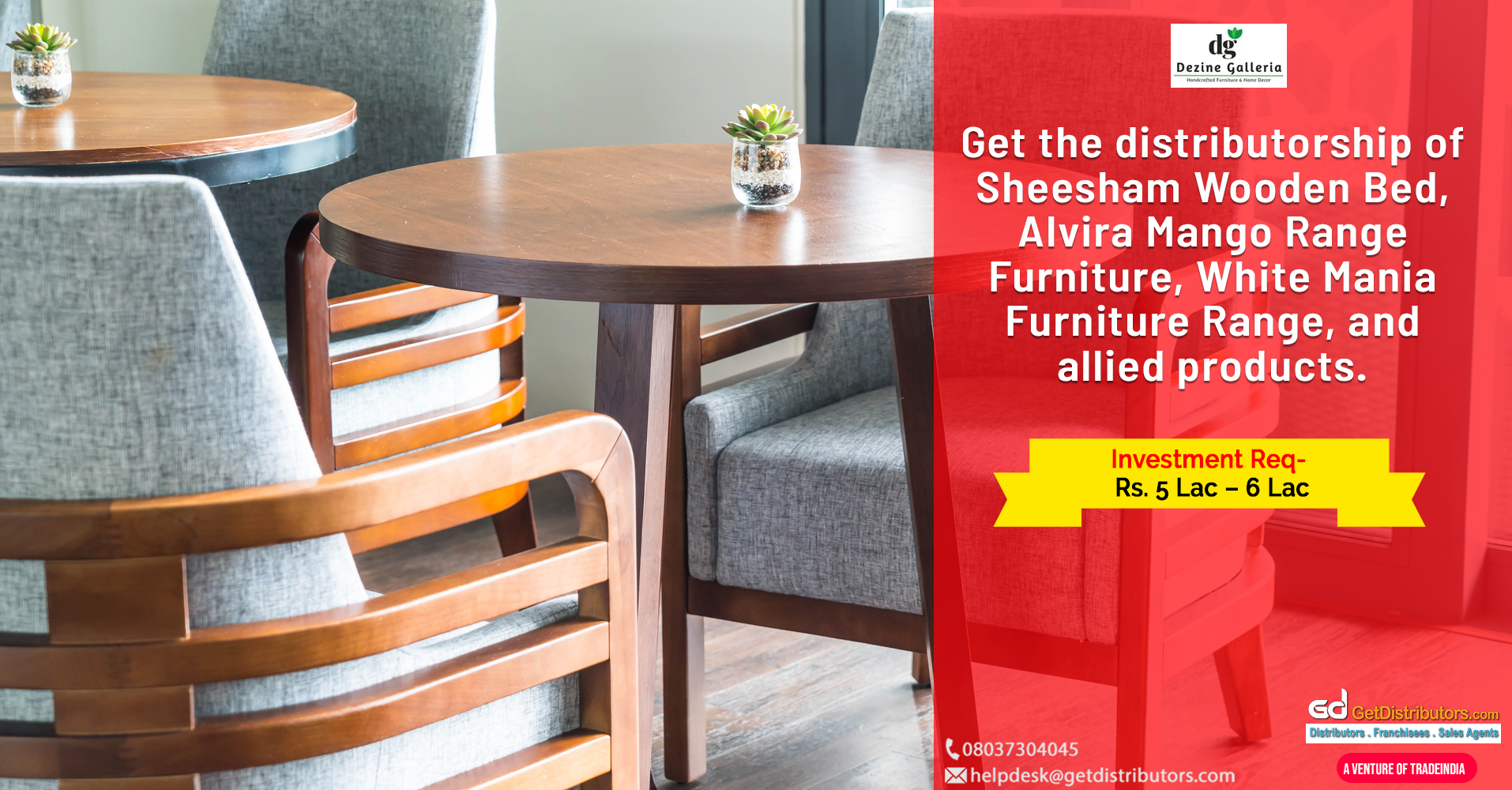 Attractive and durable furniture for distribution