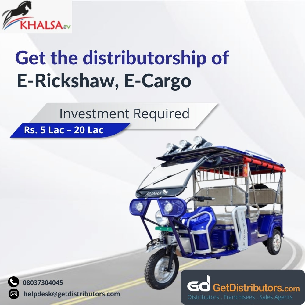 Electric vehicles for distribution